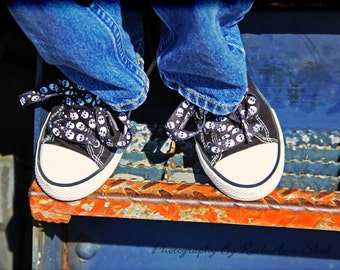 Shoes Photography, Whimsical Photography, Trains, Converse, Skulls, Grunge, Rust, 8x10 Print