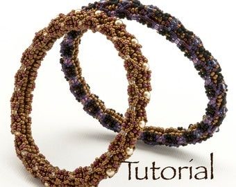 Beadwoven Newfangled Bangle Tutorial with Seed Beads, Crystals or Pearls