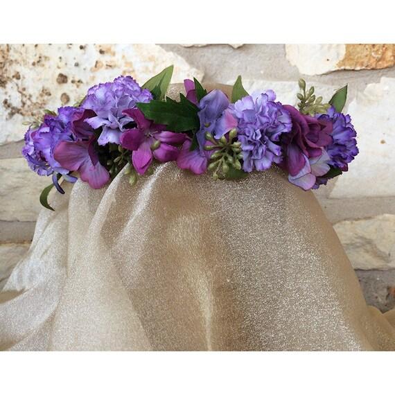 Carnation floral head wreath flower crown womens bridal fashion accessory Easter Ostara Spring Equinox