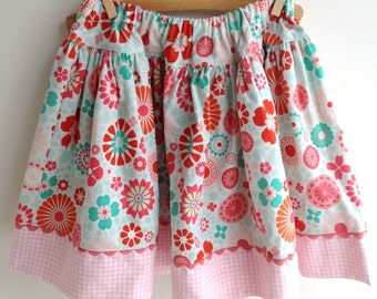 Favorite Twirl skirt in flower confetti, sizes 3t 4t 5 6 7 8