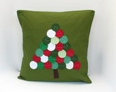 PRoGRESSIVE SALE Christmas Dot Tree Pillow Cover on Leaf Green