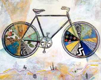 Bicycle- Go With Me - 12X12 print - limited edition print of bike