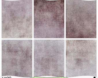 Shabby Gray Lavender Purple Painted Digital Prints Instant Download Set of 6 - 8.5 x 11 inch Printable Papers JPEG & PDF Commercial Use 1988