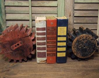 Choice of one Vintage Small  Wood Gear Foundry Mold  Very Industrial