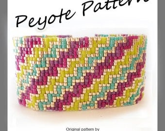 Infinity Stairs Peyote Pattern Bracelet - For Personal Use Only PDF Tutorial