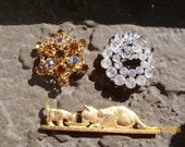 RESERVED for Debra ~ Lot of Vintage Brooches ~ 100% Animal Charity