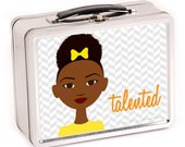 Little Sister in Yellow Metal Lunch Box