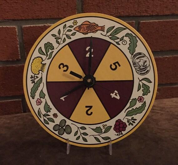 Vintage Circular Game Spinner Clock