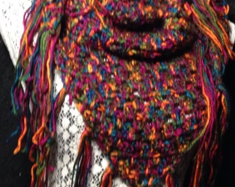 Jewel tones wrap/cowl