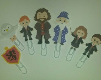 Wizard School characters Planner Paper Clips Book Marks (set of 7)