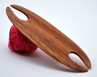 "Weaving Shuttle For Small Weaving Loom Inkle Loom Tablet Weaving Card Weaving Detail Work - Handcrafted Weaving Tool - Red Oak 3.875"""