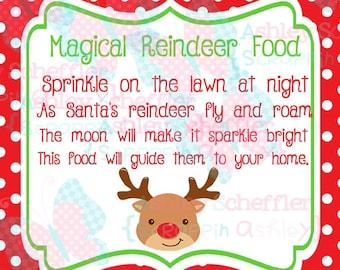 Reindeer Food. Reindeer. Christmas. Reindeer Food Tag. Printable. Favor Tag. Tag. Square Tag. Printable Tag. Instant Download. PDF file.