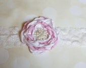 Never Land - Pink and Ivory Vintage Inspired Headband, Suitable for All Ages