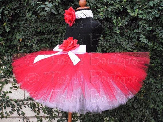 Valentine's Day Tutu Set for Girls, Tweens, Babies, Custom Sewn Tutu, Be My Valentine, Red and White Tutu for Christmas and Valentine's Day