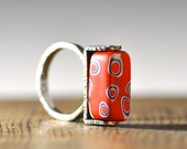 La Biennale Ring  sterling silver and venetian glass
