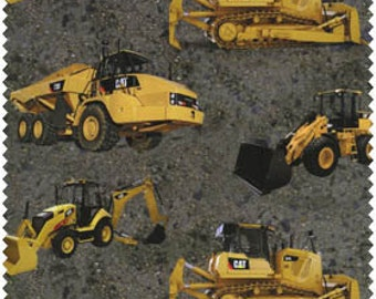 CAT Machines on Gravel, by Print Concepts, Last 45 Inches