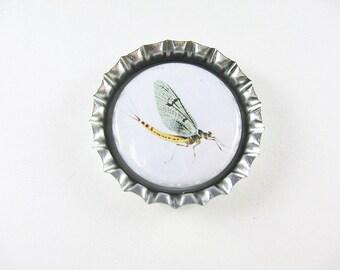 Bottle Cap Fridge Magnet Home & Living, Kitchen, Storage Fly Fishing White