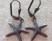 Antique Bronze Starfish Earrings
