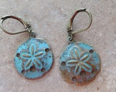 Antique Bronze Sand Dollar Earrings