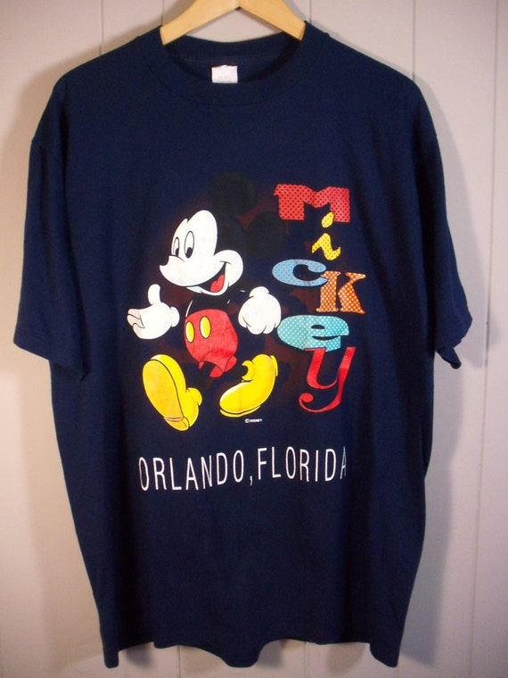 Vintage 90s mickey mouse tee shirt disney t by stokedvintage for Oversized disney t shirts