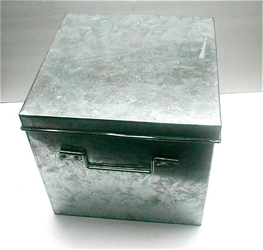 Galvanis acier bo te bo te de rangement industriels - Cube metallique rangement ...
