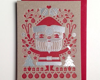 Santa Foil Holiday Card