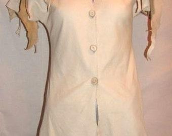 Custom Leather Vest  COMICON Renaissance Deerskin Coat Hippie Primitive Buckskin Shirt Handmade by Debbie Leather