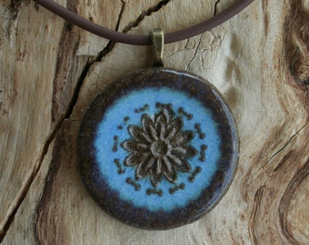 Castille Blue Stoneware Medallion