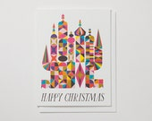 Festive Happy Christmas Castle Note Card