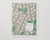 Snowberry Thank You Note Card