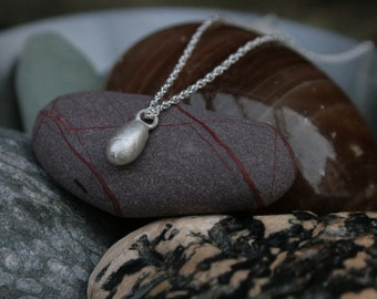 pendant  necklace made from fine Silver clay.