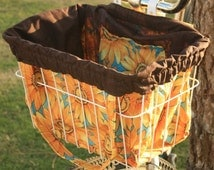 Sunny Days Bike Basket Liner and Purse in One