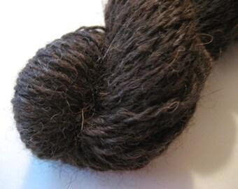 100% Alpaca Yarn, Willow - Mixed Dark Brown, Sport Weight 50 Yards, Homegrown Super Soft and Warm Knit Crochet Fiber Art Project