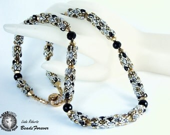 Beading Tutorial - Night Out On the Town Necklace - Beaded Beads - SuperDuos