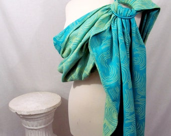 Wrap Conversion Ring Sling Baby Carrier - Little Frog Echo line - 4 colorway choices - great baby shower gift - DVD included