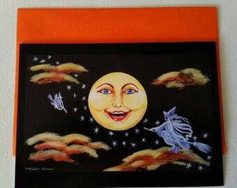 "Halloween frame-able greeting card ""Halloween Hi!"""