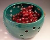 Pottery Berry Basket / Colander/Berry Bowl/Fruit Strainer