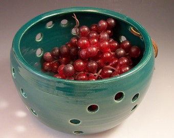 Pottery Berry Basket / Colander/Berry Bowl/Fruit Strainer