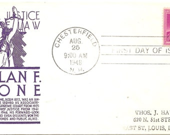 1948 First Day Issue Harlan F Stone