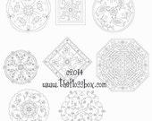 Mandala Embroidery Patterns