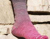 Come What May Gradient Stripes Matching Socks Set, 2-50g Cakes, Lavish (dyed to order)
