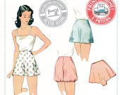 E-Pattern- 1940s Panties & Bloomers- Wearing History PDF Vintage Sewing Pattern