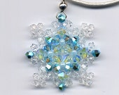 Disney's Frozen Swarovski Crystal Snowflake Necklace size small style 4 FREE SHIPPING