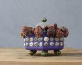 Mermaid's Secrets Box - Wooden Box with Shells and Sea Urchin