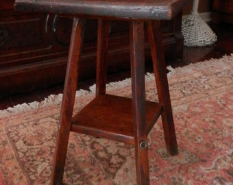 Vintage Antique Arts and Crafts Mission Oak Table Plant Stand late1800's to early 1900's