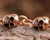 Two Skull Links in Copper Bronze -220
