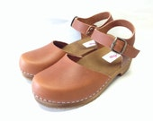 Honey Brown Oiled Dalanna Low Heel with buckle ankle strap