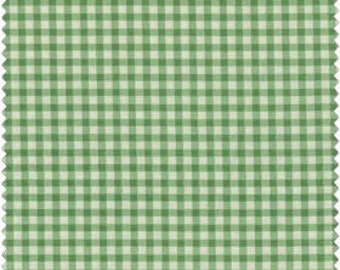 10% OFF SALE Green Checks Fabric Cottage Romance by Maywood Studio 2147-G quilt cotton fabric Yardage By the Yard