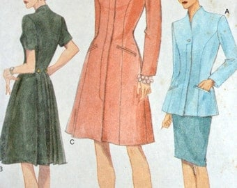 Sewing Pattern Vogue 9550 Misses' Dress Top & Skirt Bust 40-44 Uncut Complete