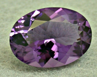 Vintage AMETHYST Loose Faceted Oval Gemstone 9.90 cts fg162